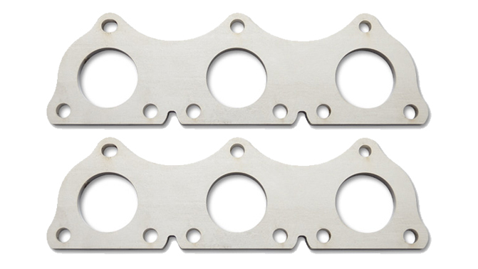 Vibrant Performance 14227 Header Flange, 3/8 in Thick, Stock Port, Stainless, 2.7 L, DOHC, Turbocharged, Audi V6, Pair
