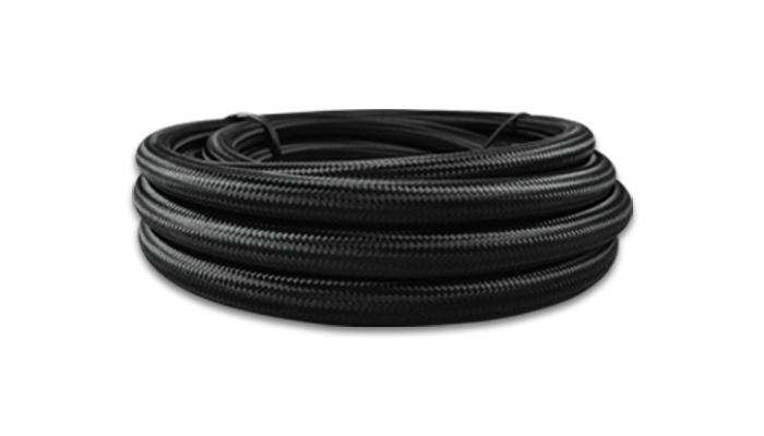 Vibrant Performance 18976 Hose, 6 AN, 20 ft, Braided Nylon, Rubber, Black, Each