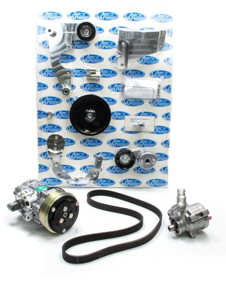 Vintage Air 174020 Pulley Kit, Front Runner, 6 Rib Serpentine, Aluminum, Natural, Ford Coyote, Kit