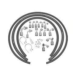 """#6 Female VINTAGE AIR 125743 U-Bend-Em Aluminum Refrigerant Line 24/"""" Length #6"""