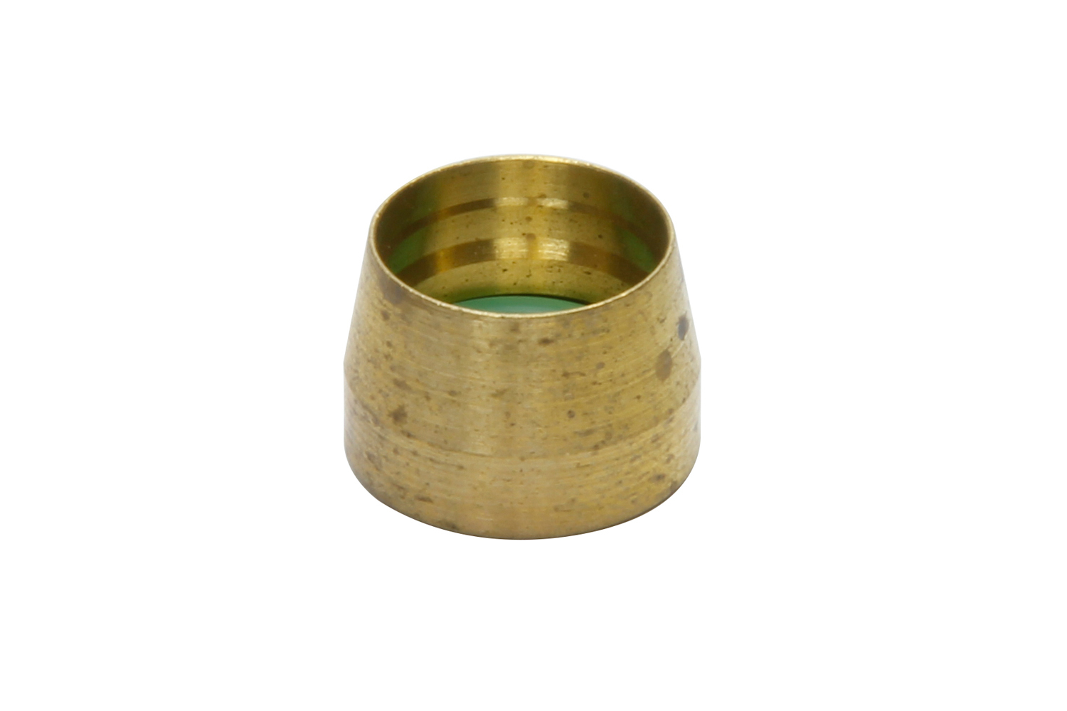 Vintage Air 36008-VUR Compression Ferrule, Cone Style, 8 AN, Brass, Natural, Air Conditioning Tube, Each