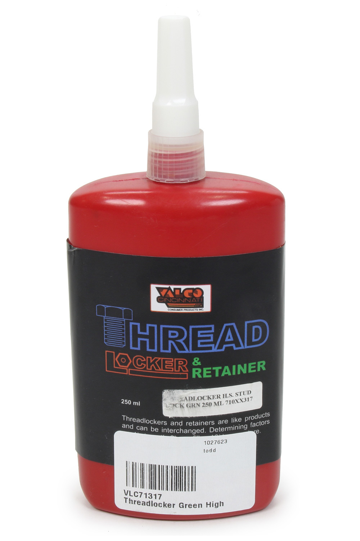 Valco 71317 Thread Locker, Green, High Strength, 250 ml Bottle, Each