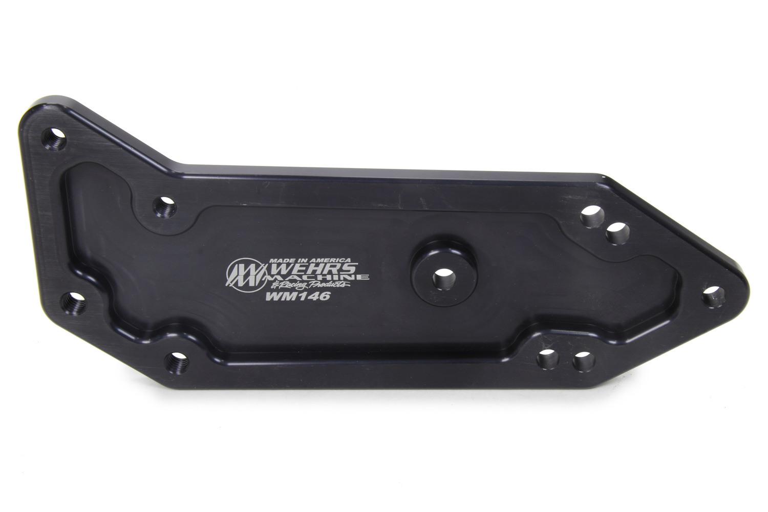 Wehrs Machine WM146 Shifter Set Back Mount, 4 to 6 in Set Back, Aluminum, Black Anodize, T10 Transmission, Each