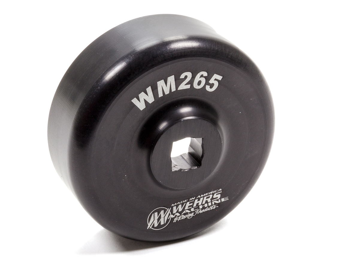 Wehrs Machine WM265 Spindle Nut Socket, 1/2 in Drive, Aluminum, Black Anodize, Grand National Hub Nuts, Each