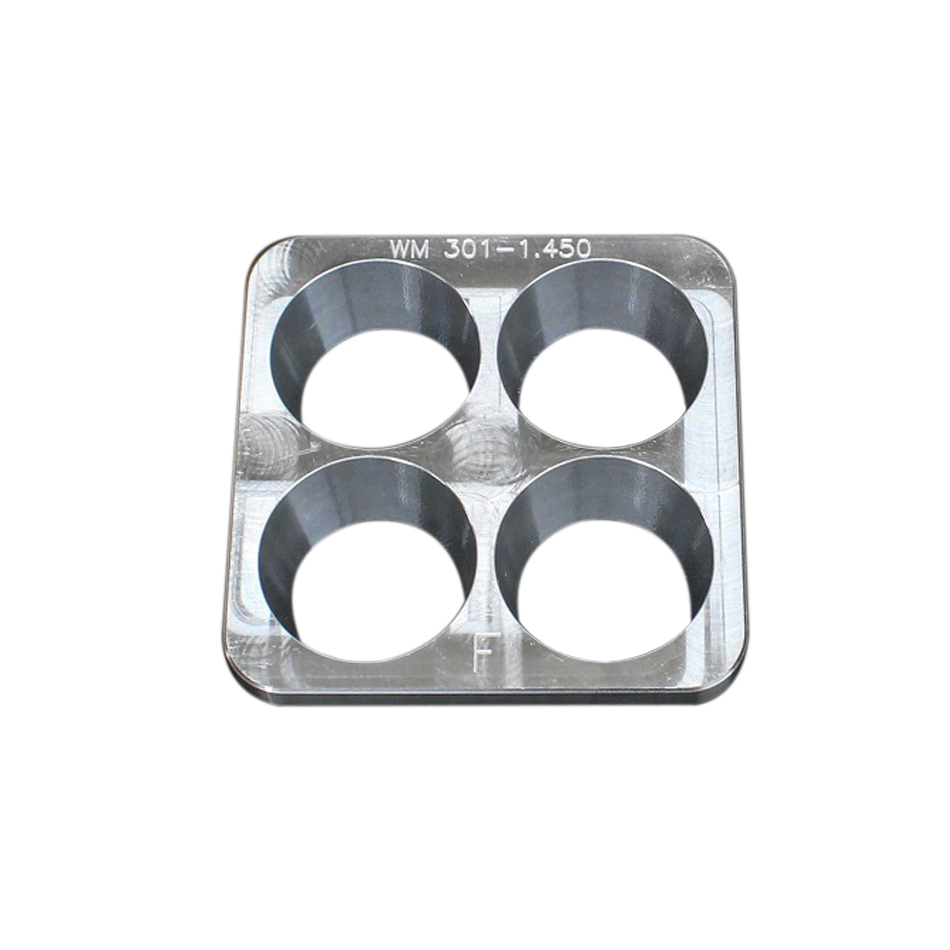 Wehrs Machine WM301-1.450 Restrictor Plate Insert, 1 in Tall, 1.450 in Diameter Bore, Aluminum, Natural, Wehrs Machine Spacer System, Each