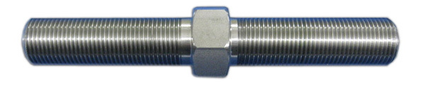 Wehrs Machine WM40A Linkage Adjuster, 3/4-16 in Left Hand Male Thread, 3/4-16 in Right Hand Male Thread, 5-1/2 in Long, Stainless, Natural, Each