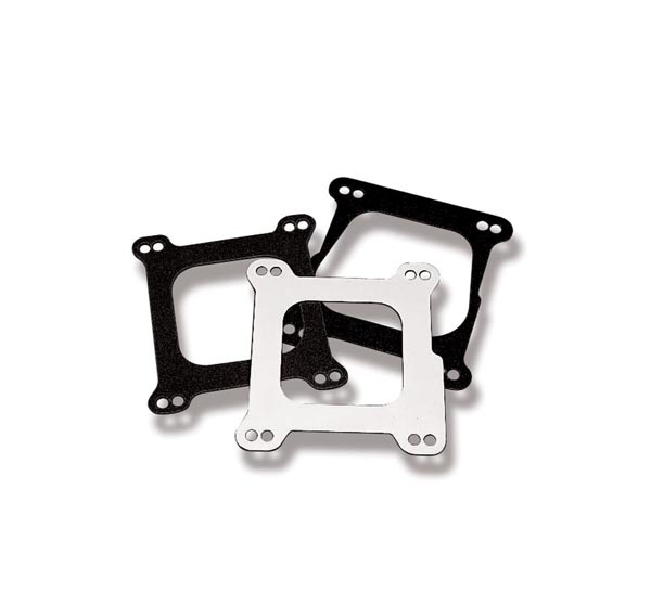 Weiand 9006 Carburetor Adapter, 1/16 in Thick, Open, Square Bore to Spread Bore, Gasket, Aluminum, Natural, Each