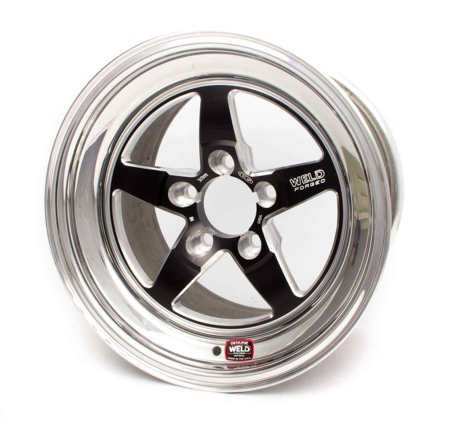 15x4.075 RT-S Wheel 5x4.75 BC 1.5BS Black