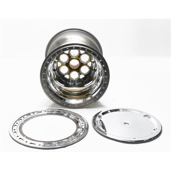 WELD RACING 15x18 42 Spline 4in BS Bead-Loc w/Cover P/N - 735-51854-6