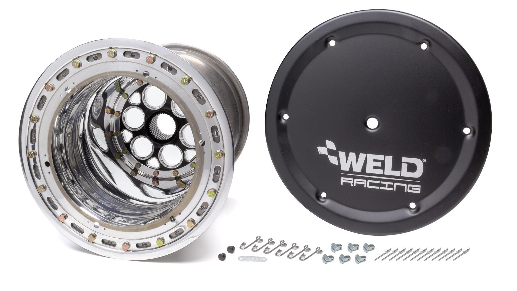 WELD RACING 15x18 42 Spline 4in BS Bead-Loc w/Cover P/N - 735B-51854BC-6