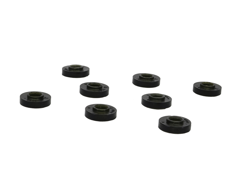 Whiteline W31409 Shock End Bushing, Front, Lower, Polyurethane, Black, Ford Mustang 1964-73, Set of 7