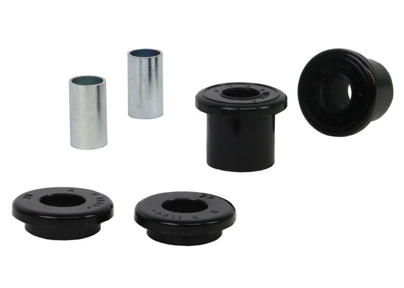 Whiteline W81099 Bushing Kit, Strut Rod to Control Arm, Rubber / Steel, Black / Zinc Oxide, Pontiac GTO 2004-06, Kit