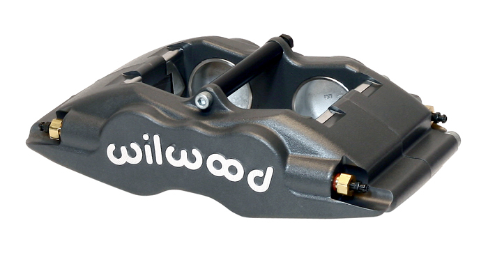 Wilwood 120-11128 Brake Caliper, Superlite, 4 Piston, Aluminum, Gray Anodize, 13.060 in OD x 0.840 in Thick Rotor, 3.500 in Lug Mount, Each