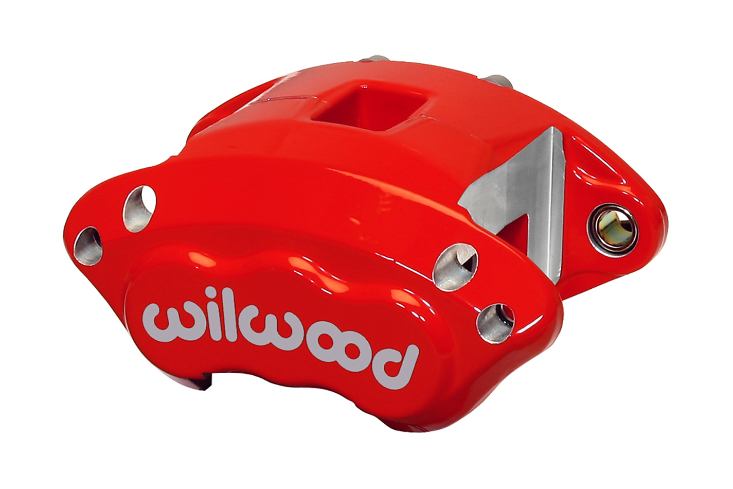 Wilwood 120-11873-RD Brake Caliper, D154, 2 Piston, Aluminum, Red Anodized, 12.190 in OD x 0.810 in Thick Rotor, 5.460 in Floating Mount, Each