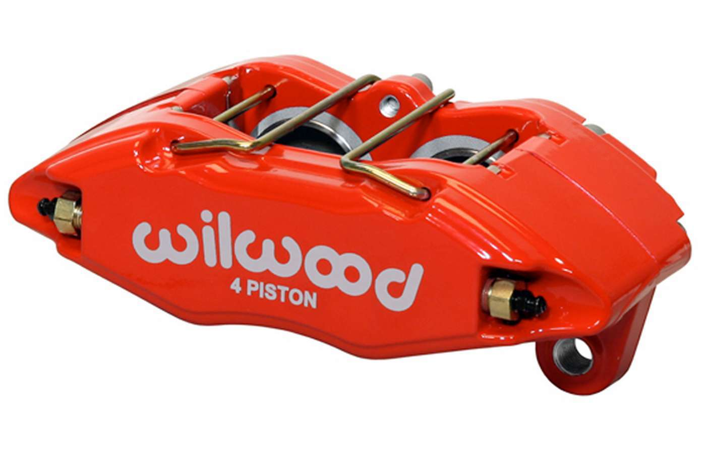 Wilwood 120-12949-RD Brake Caliper, DPHA, 4 Piston, Aluminum, Red Anodize, 10.320 in OD x 0.830 in Thick Rotor, 5.510 in Lug Mount, Each