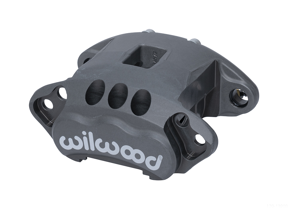 Wilwood 120-14876 Brake Caliper, GM Metric Race, 1 Piston, Aluminum, Gray Anodize, 12.190 in OD x 1.040 in Thick Rotor, 5.460 Floating Mount, Each