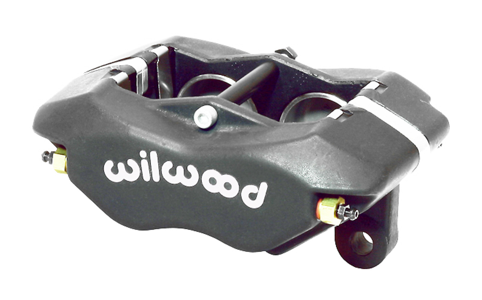 Wilwood 120-15254 Brake Caliper, Dynalite, 4 Piston, Aluminum, Gray Anodized, 12.720 in OD x 1.000 in Thick Rotor, 3.500 in Lug Mount, Each