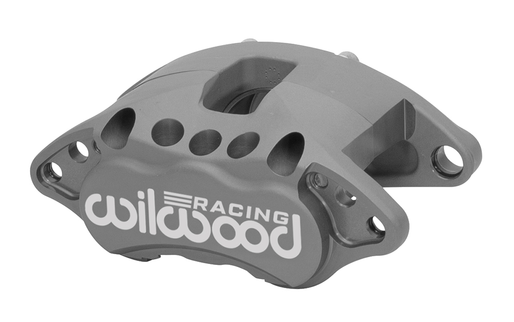 Wilwood 120-15609 Brake Caliper, D52-R, 1 Piston, Aluminum, Gray Anodize, 12.190 in OD x 1.250 in Thick Rotor, 7.060 in Floating Mount, Each