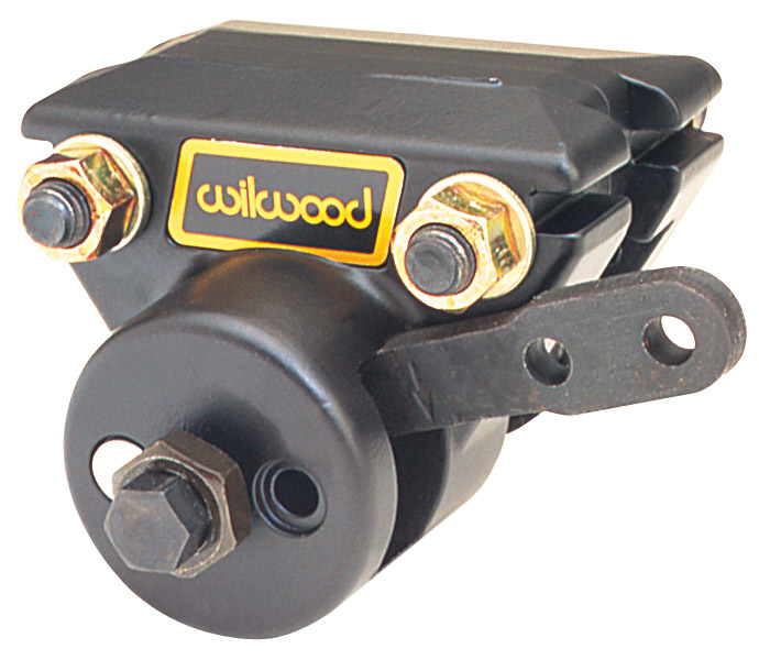 Wilwood 120-2373 Brake Caliper, Spot, Passenger Side, Mechanical, Aluminum, Black, 13.000 in OD x 0.500 in Thick Rotor, 2.950 in Floating Mount, Each