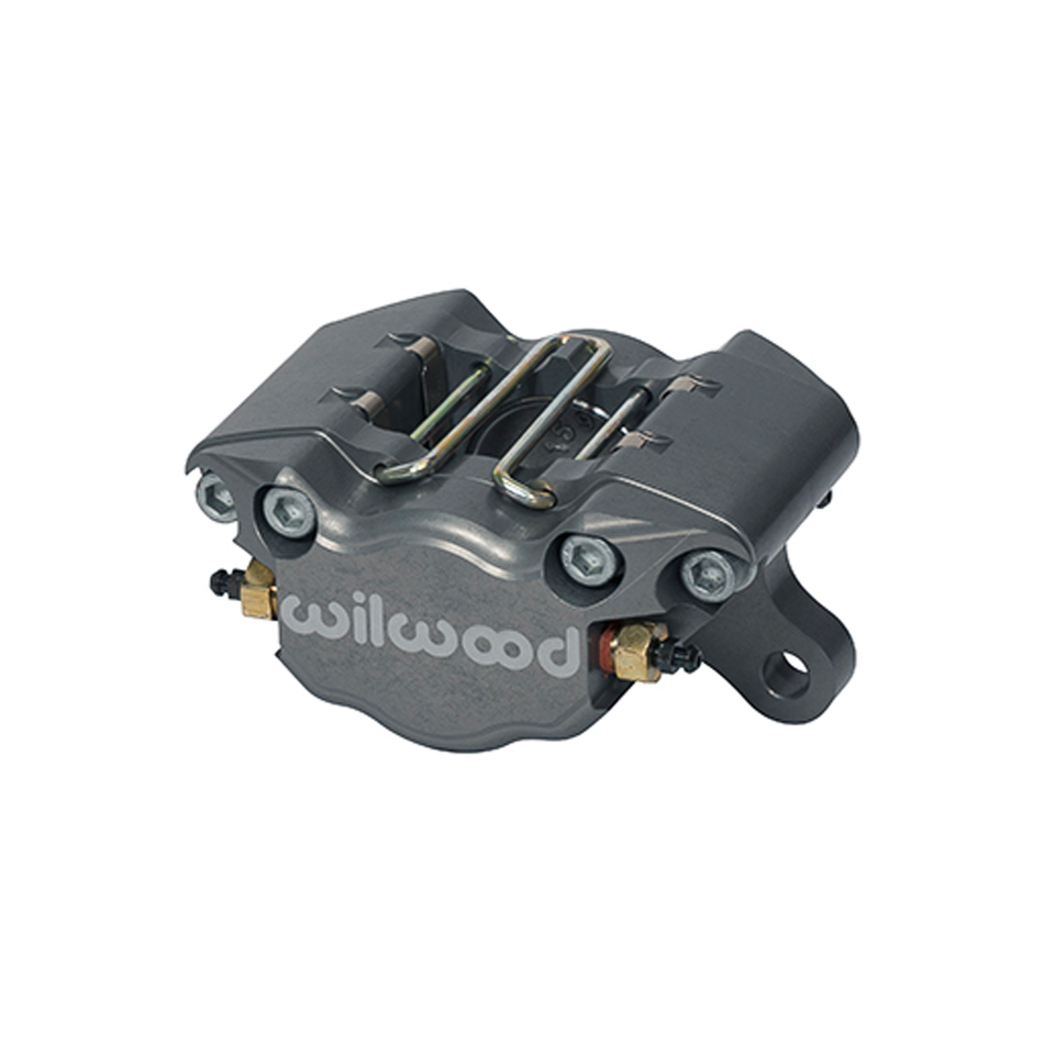 Wilwood 120-9690 Brake Caliper, Dynapro, 2 Piston, Billet Aluminum, Gray Anodized, 13.000 in OD x 0.380 in Thick Rotor, 3.750 in Lug Mount, Each