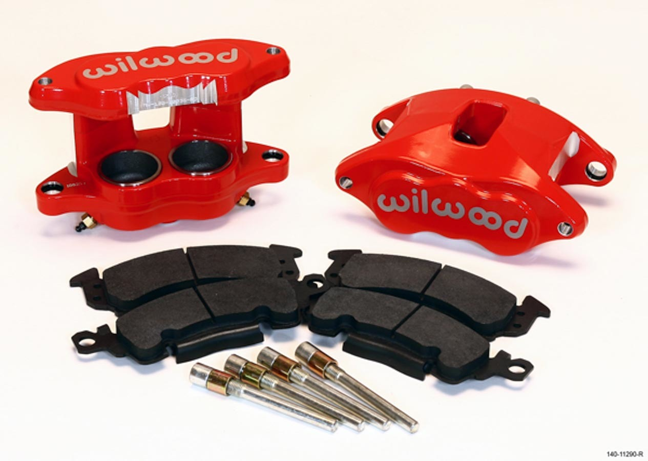 Wilwood 140-11290-R Brake Caliper, D52, 2 Piston, Forged Aluminum, Red Anodized, 12.190 in OD x 1.250 in Thick Rotor, 7.060 in Floating Mount, GM 1968-96, Kit