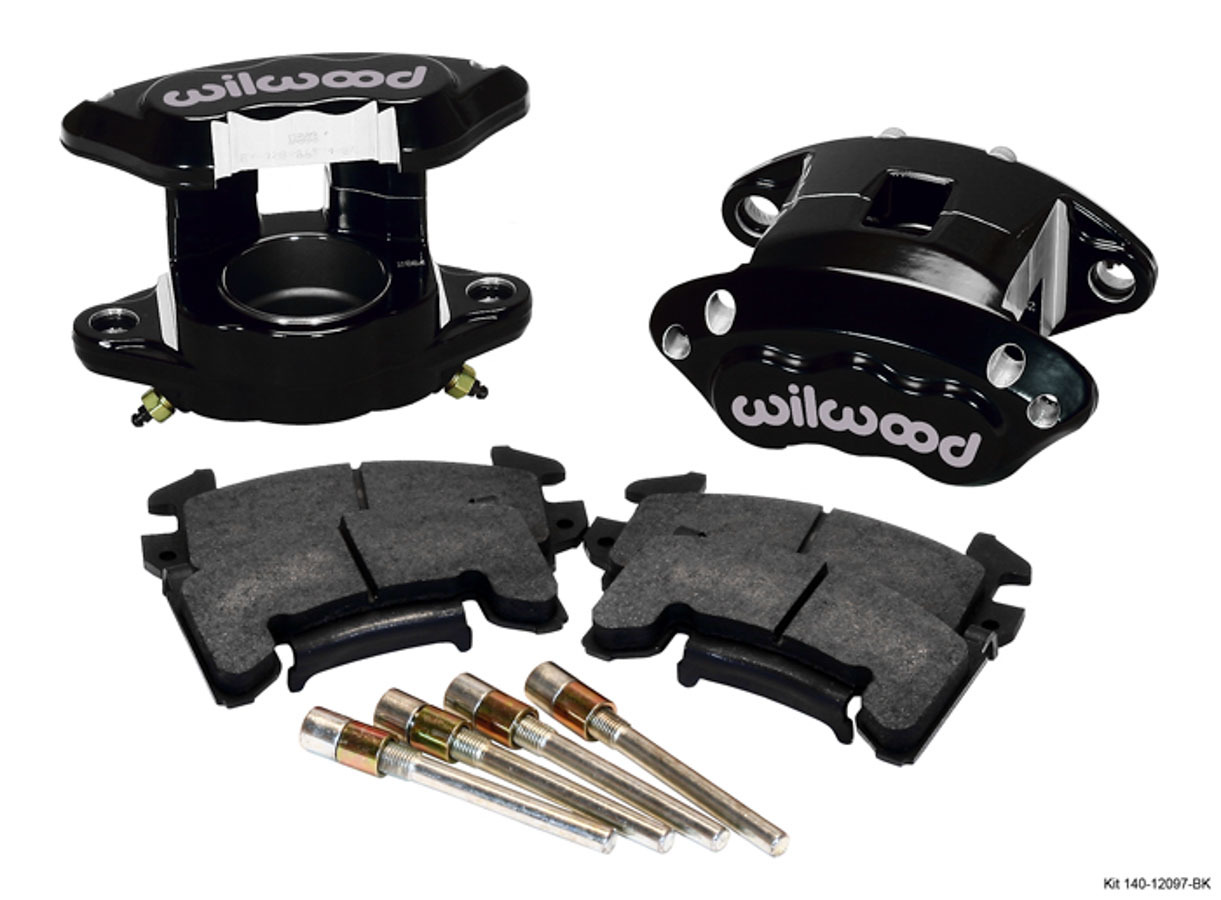 Wilwood 140-12097-BK Brake Caliper, D154, 1 Piston, Forged Aluminum, Black, 12.190 in OD x 1.040 in Thick Rotor, 5.460 in Floating Mount, GM 1978-98, Kit