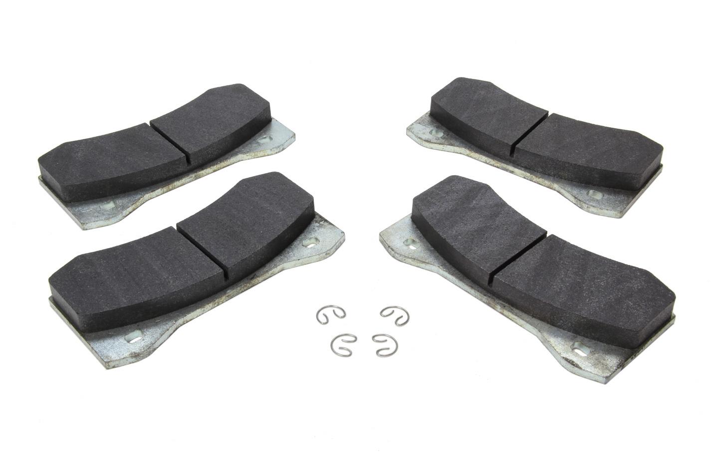 Wilwood 15E-12604K Brake Pads, PolyMatrix E Compound, Medium Friction, Medium Temperature, Aero 4 / 6 Caliper, Kit