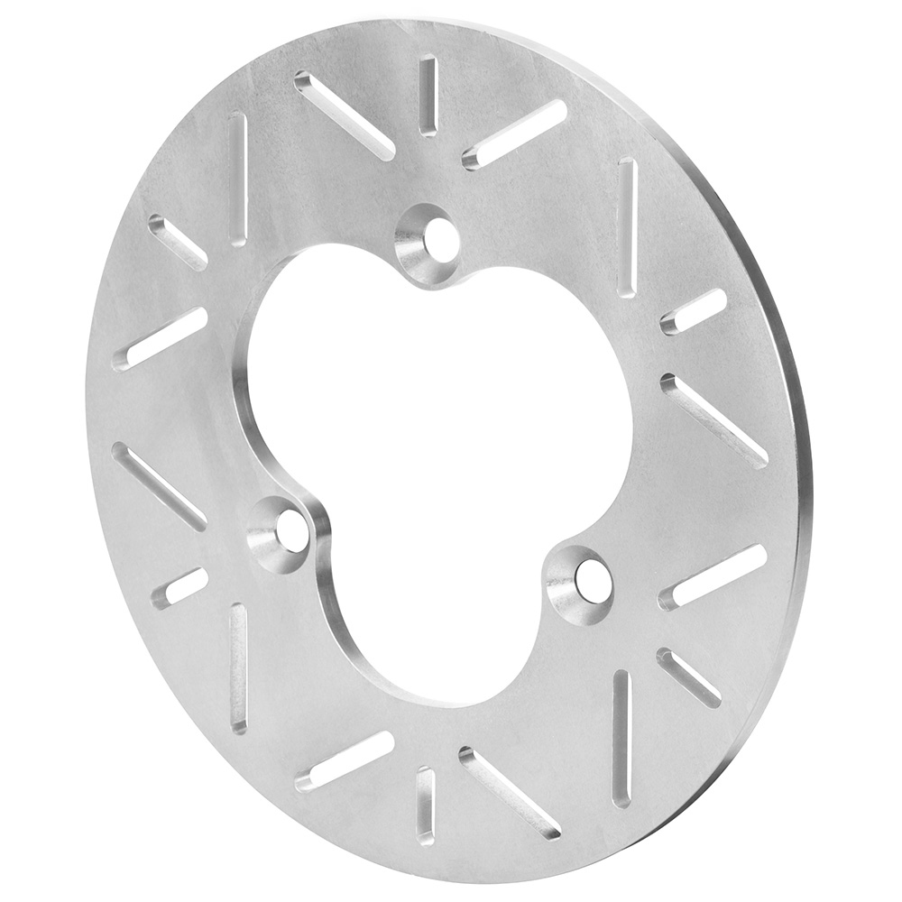 Wilwood 160-16113 Brake Rotor, Slotted, 10.20 in OD, 0.31 in Thick, 3 x 5.00 in Bolt Pattern, Titanium, Natural, Sprint Car, Each