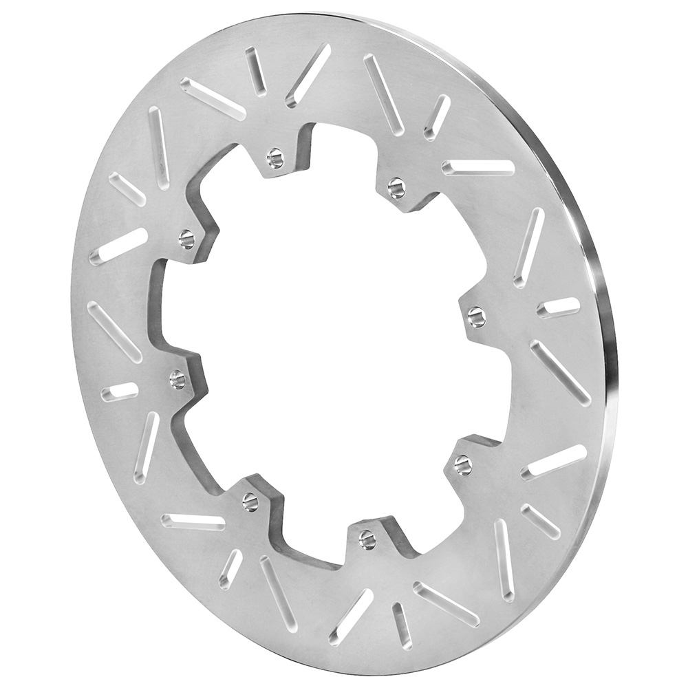 Wilwood 160-16114 Brake Rotor, Slotted, 12 in OD, 0.36 in Thick, 8 x 7.00 in Bolt Pattern, Titanium, Natural, Sprint Car, Each