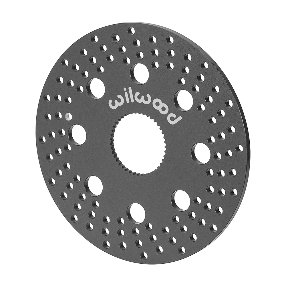 Wilwood 160-3270A Brake Rotor, Drilled, 10.200 in OD, 0.31 in Thick, 42 Spline Axle Mount, Aluminum, Black Anodized, Sprint Car, Each