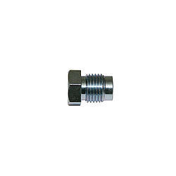 Wilwood 220-5247 Fitting, Flare Nut, 1/2-20 in Inverted Flare Male, Steel, Zinc Oxide, Wilwood Tandem Master Cylinder, 3/16 in Hardline, Each