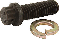 Wilwood 230-6911 Drive Flange Bolt, 7/16-14 in Thread, 1-1/4 in Long, 12 Point Head, Set of 5