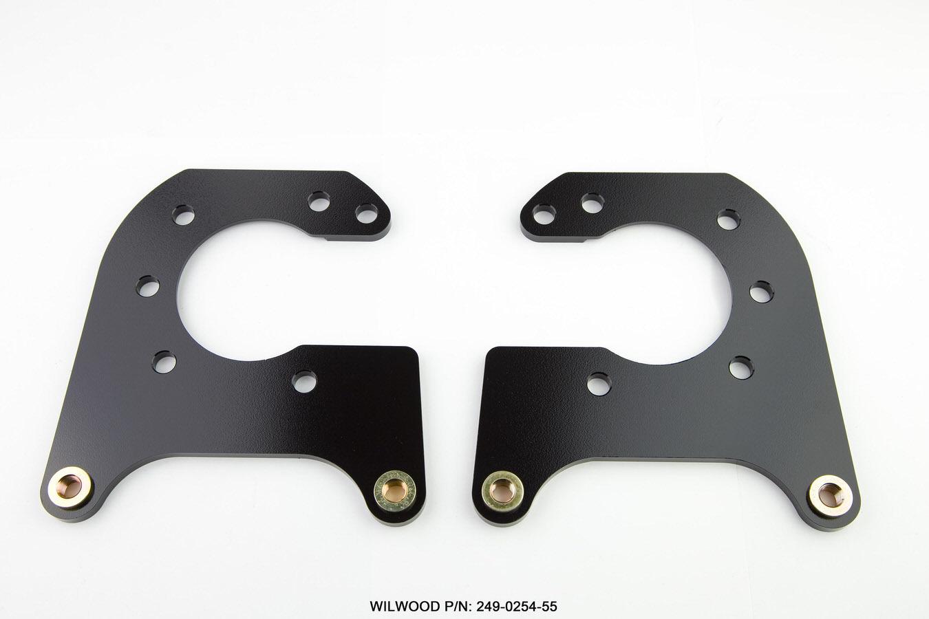 Wilwood 249-0254/55 Brake Caliper Bracket, Rear, Aluminum, Black Anodized, Dynalite Caliper, Oldsmobile / Pontiac, Pair