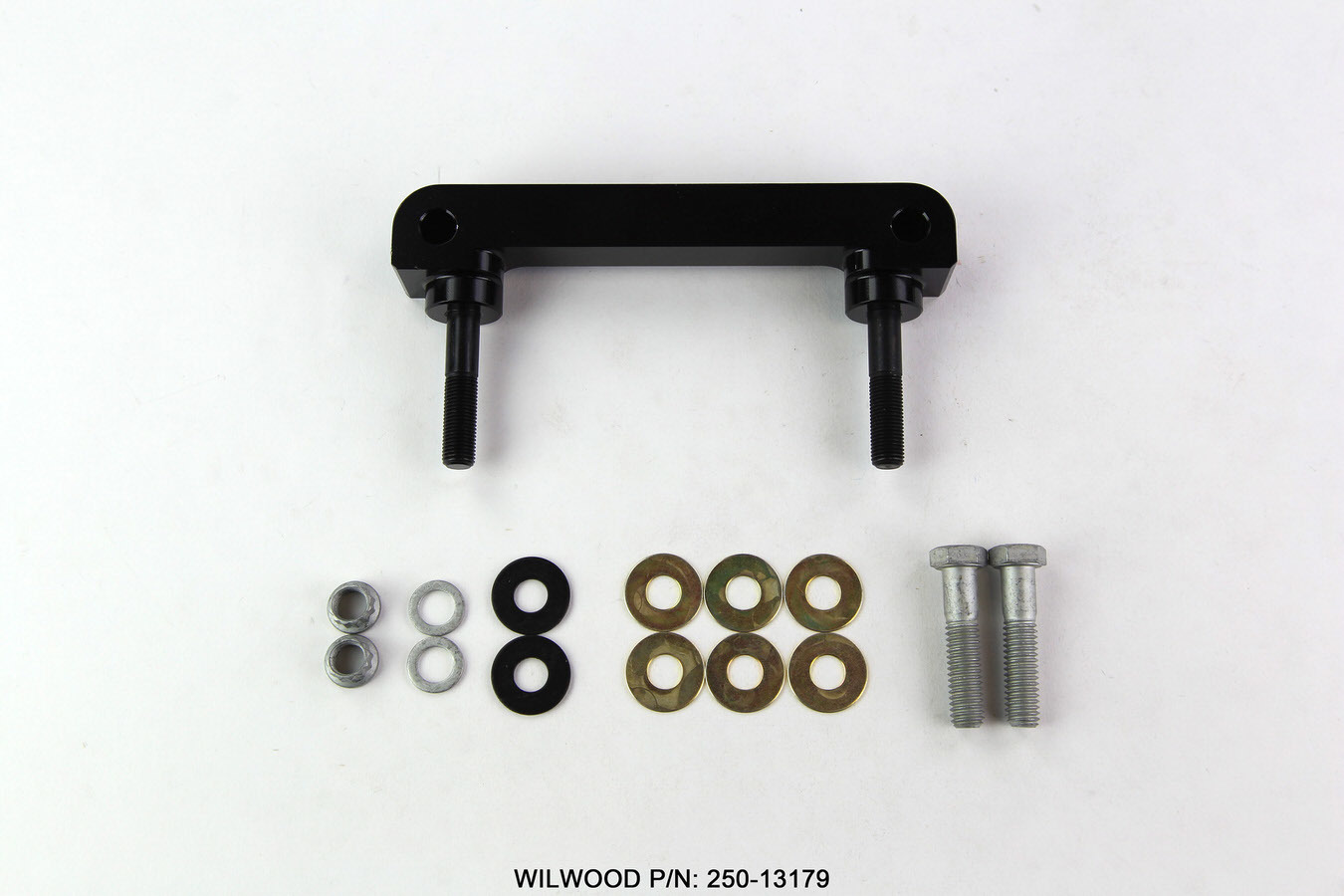 Wilwood 250-13179 Brake Caliper Bracket, 3.50 in Radial Mount, Billet Aluminum, Black Anodized, Billet Dynalite Calipers, Kit