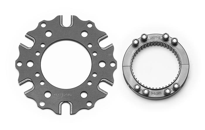 Wilwood 270-12635 Brake Rotor Adapter, Rear Inboard, 2.880 x 48 Spline Axle Mount to 6 x 5.500 / 8 x 7.000 in Rotor Bolt Pattern, Aluminum, Gray Anodized, Kit