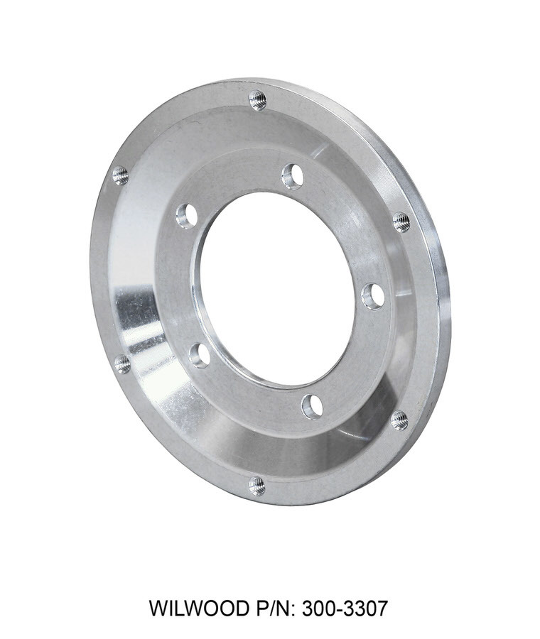Wilwood 300-3307 Brake Rotor Adapter, 5 x 3.880 in Bolt Pattern to 6 x 6.250 in Rotor Bolt Pattern, Aluminum, Natural, Each