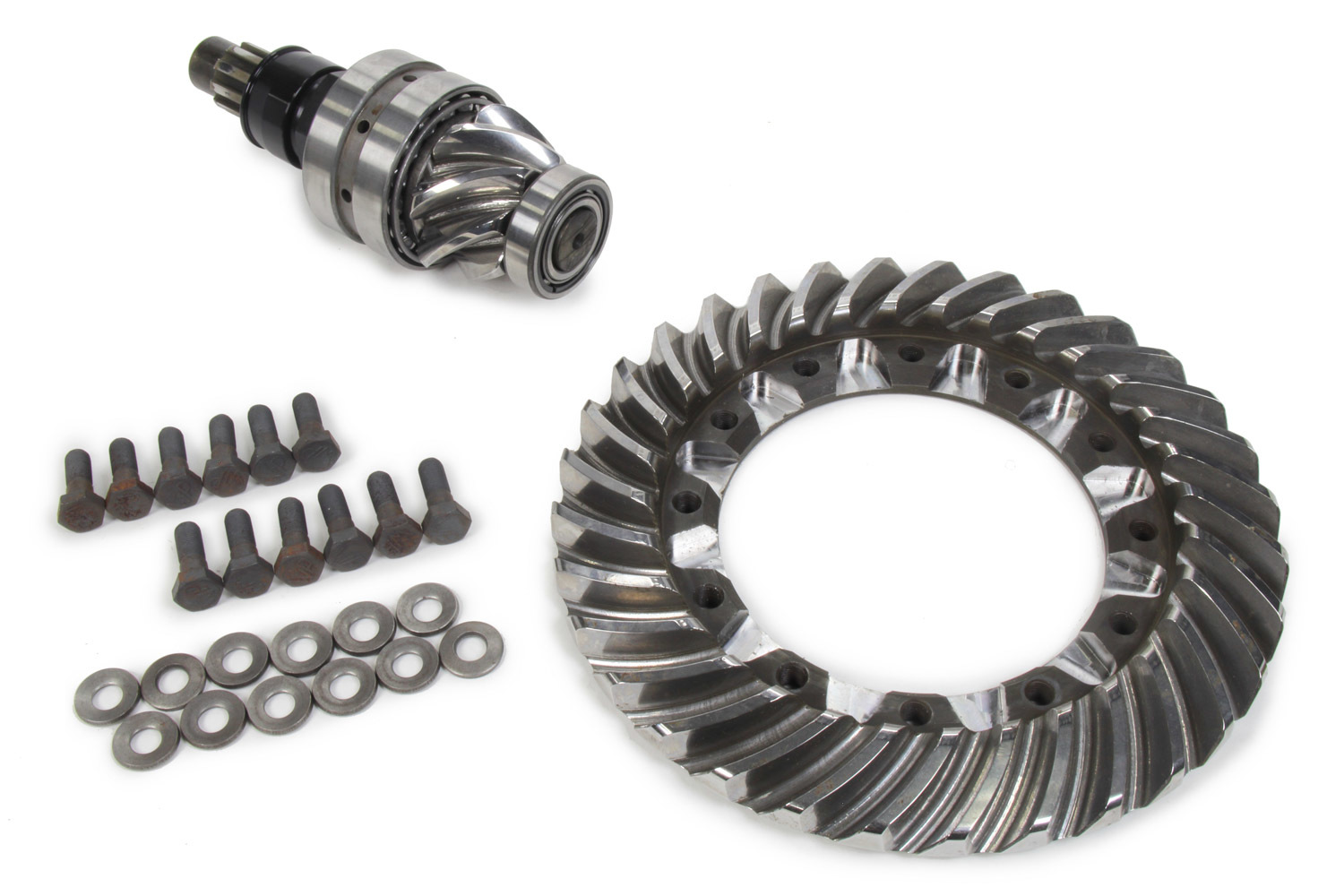 Winters 52457-EDM/REM Ring and Pinion, 4.57 Ratio, 10 Spline, EDM, REM, Bearings Included, Steel, Winters 12-Bolt 10 in Quick Change, Kit