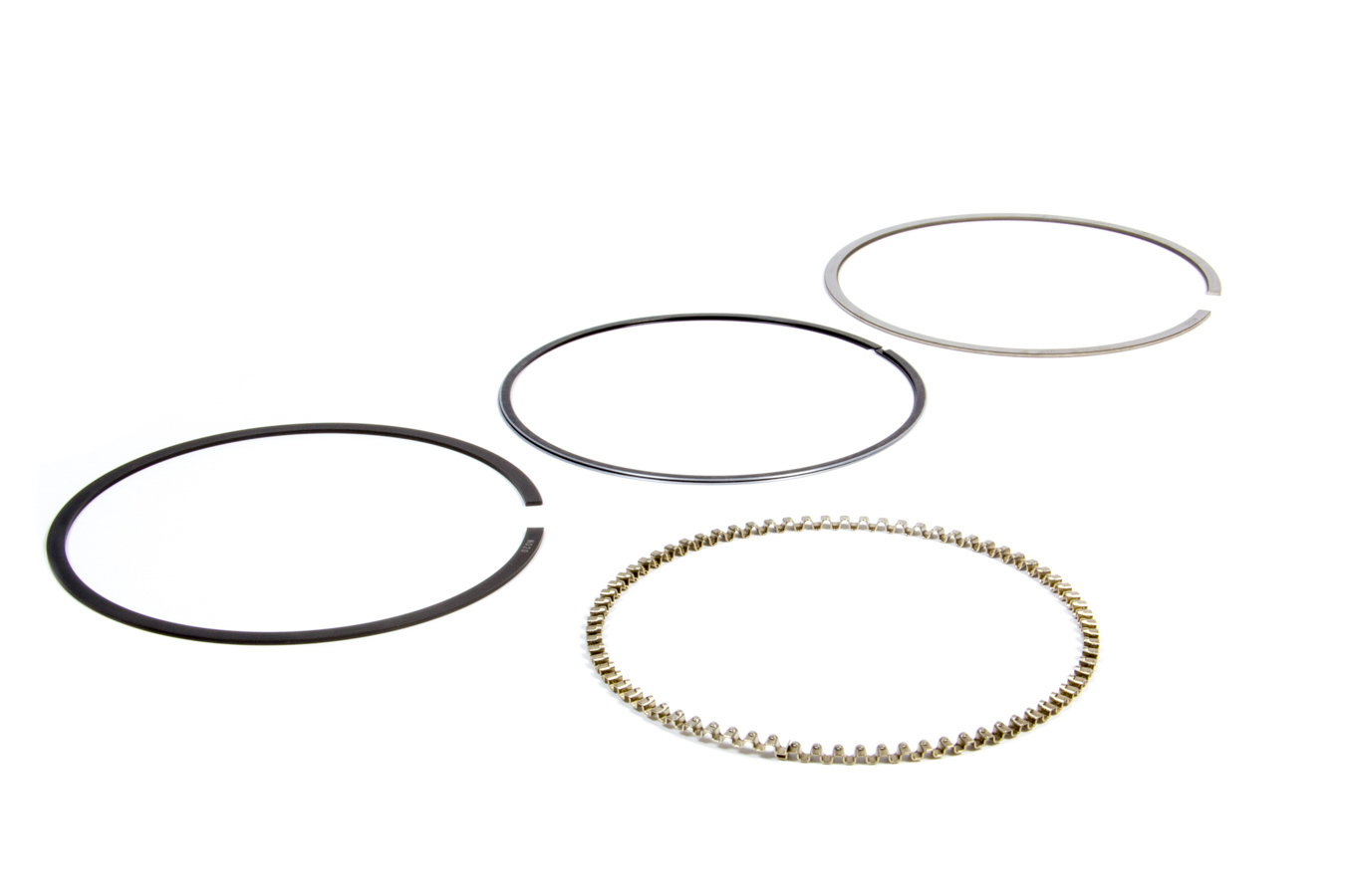 Wiseco 4072GFX Piston Rings, 4.072 in Bore, File Fit, 1.2 x 1.2 x 3.0 mm Thick, Standard Tension, Gas Nitride, 1 Cylinder, Kit