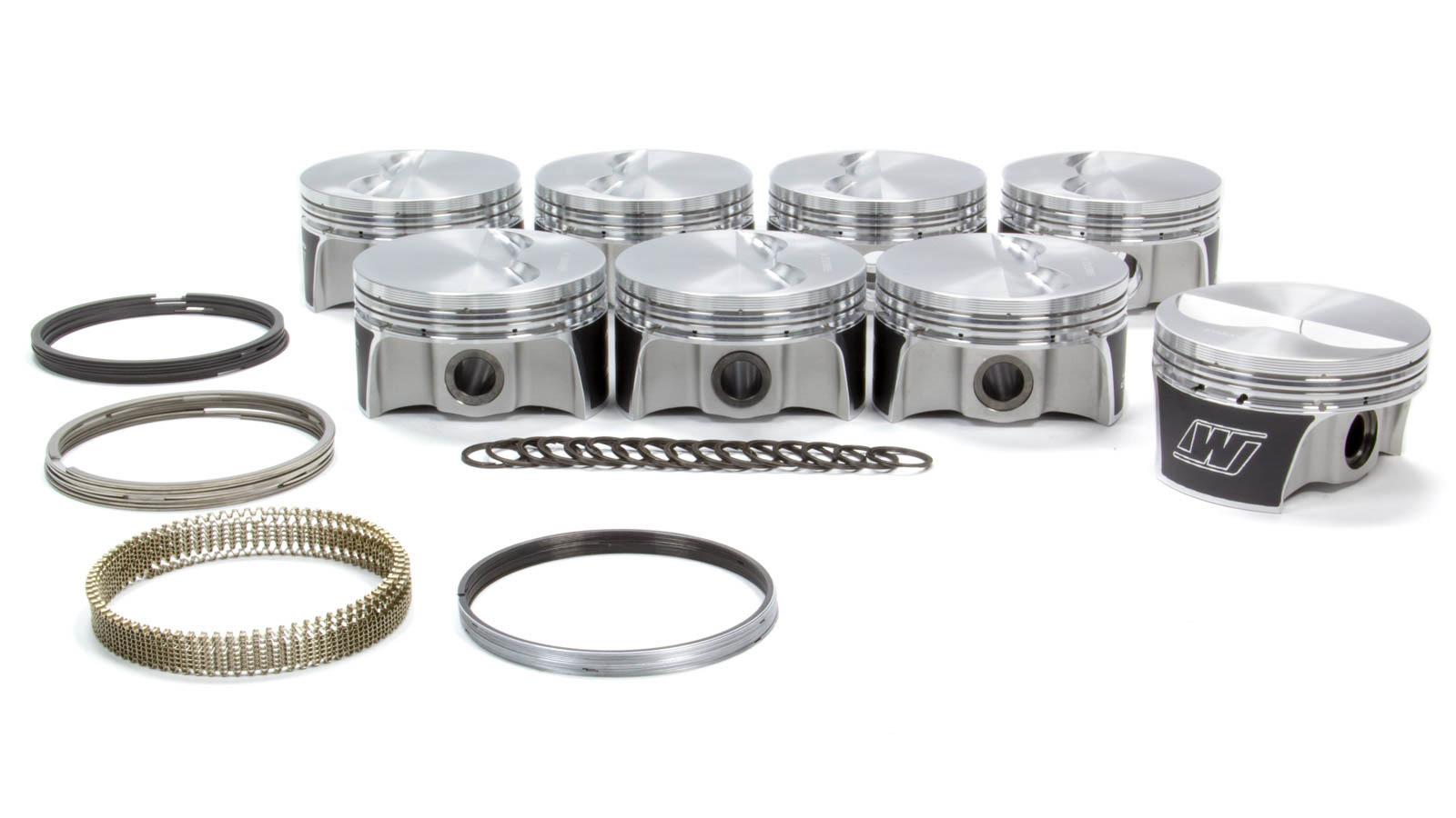Wiseco K0003X3 Piston and Ring, Strutted High Strength, Forged, 4.030 in Bore, 1.2 x 1.2 x 3.0 mm Ring Groove, Minus 5.7 cc, Small Block Chevy, Kit