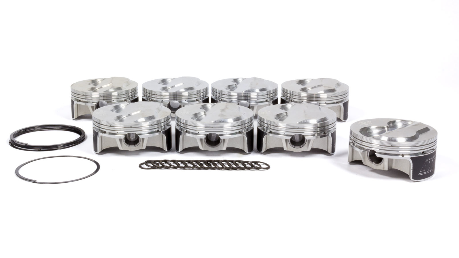 Wiseco K0029B3 Piston, 18 Degree 400 Solid Dome, Forged, 4.155 in Bore, 0.043 in x 0.043 in x 3.0 mm Ring Grooves, Plus 3.00 cc, Small Block Chevy, Set of 8