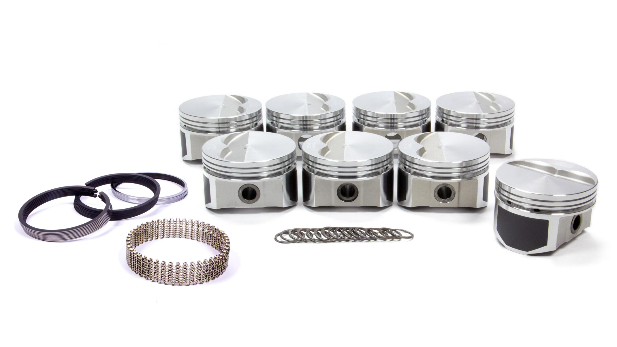 Wiseco Pro-Tru PTS500A3 Piston and Ring, Windsor Flat Top, Forged, 4.030 in Bore, 1/16 x 1/16 x 3/16 in Ring Grooves, Minus 7.0 cc, Small Block Ford, Kit