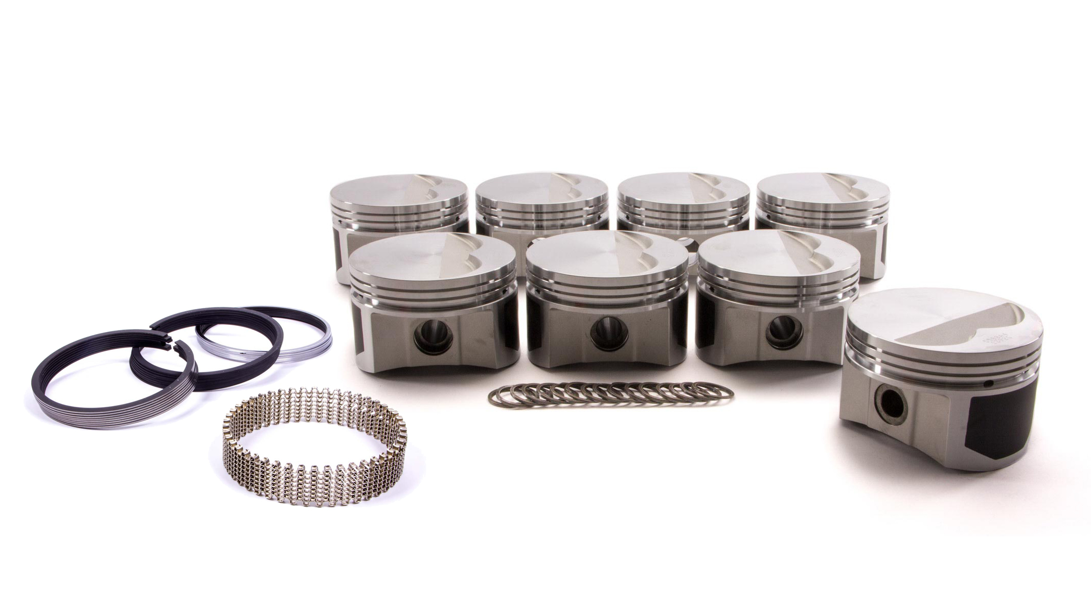 Wiseco Pro-Tru PTS500A4 Piston and Ring, Windsor Flat Top, Forged, 4.040 in Bore, 1/16 x 1/16 x 3/16 in Ring Grooves, Minus 7.0 cc, Small Block Ford, Kit