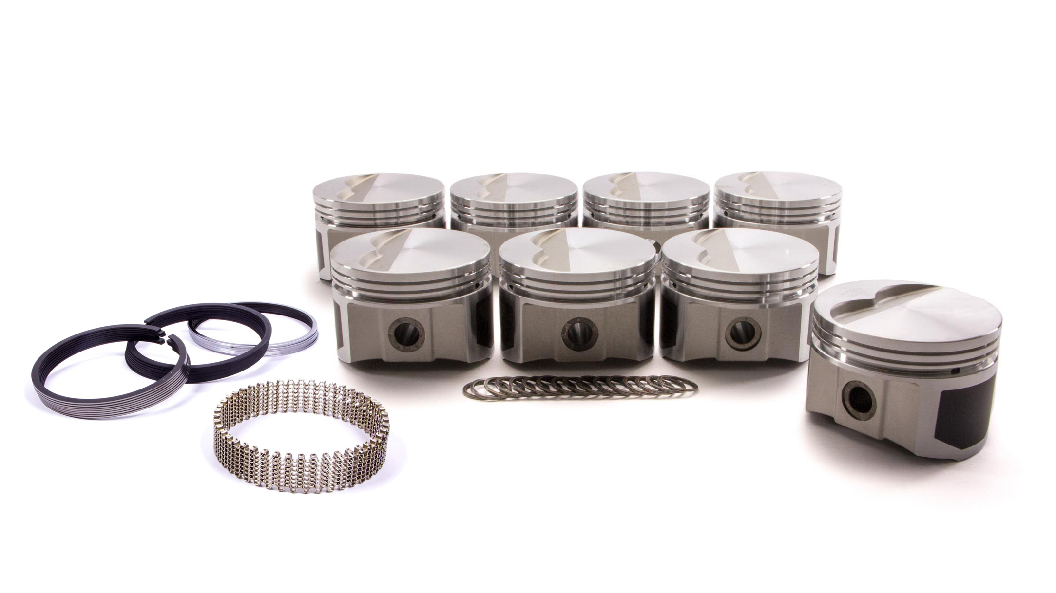 Wiseco Pro-Tru PTS501A3 Piston and Ring, Windsor Flat Top, Forged, 4.030 in Bore, 1/16 x 1/16 x 3/16 in Ring Grooves, Minus 7.0 cc, Small Block Ford, Kit