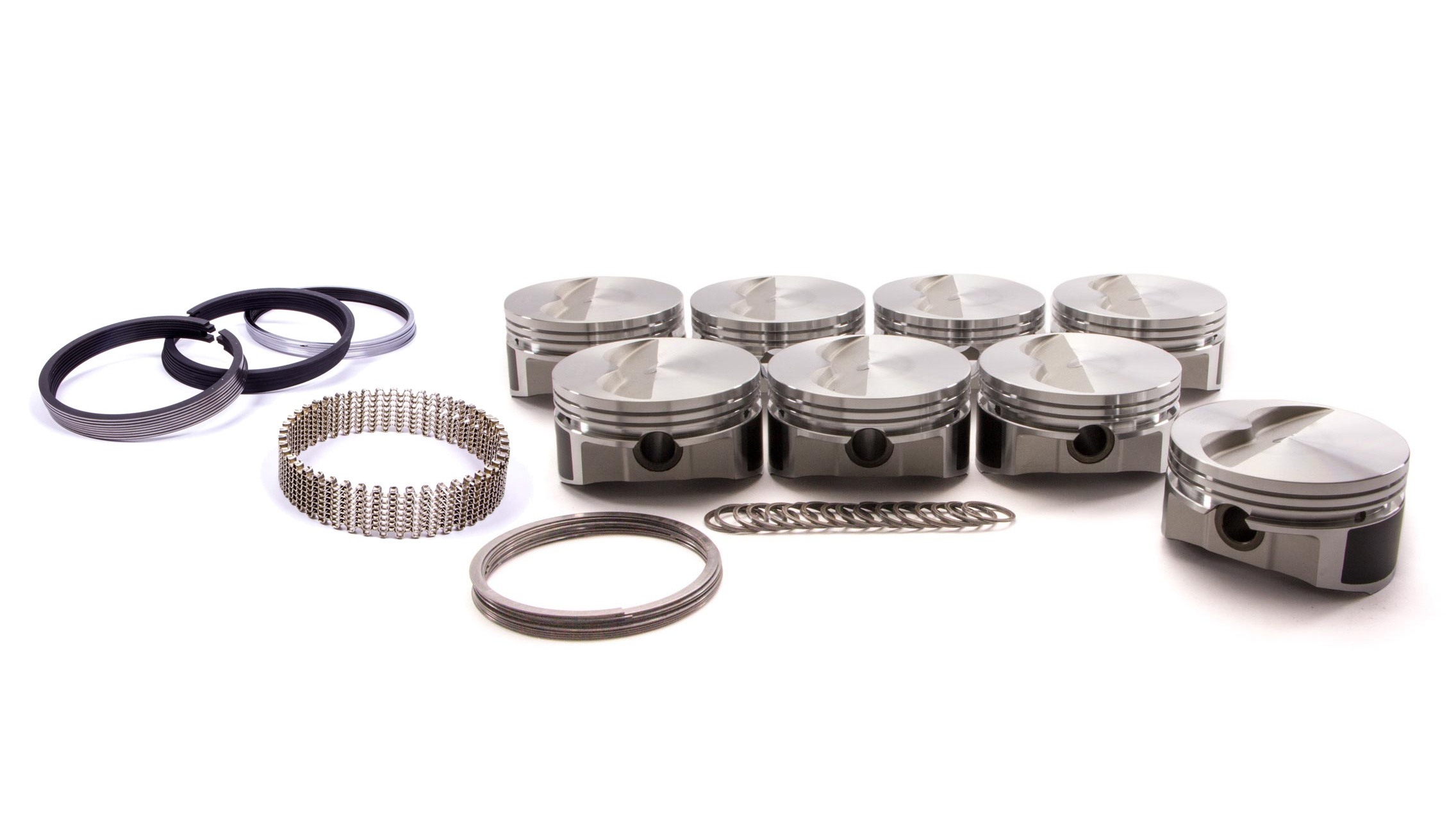 Wiseco Pro-Tru PTS506A3 Piston and Ring, 23 Degree Flat Top, Forged, 4.030 in Bore, 1/16 x 1/16 x 3/16 in Ring Grooves, Minus 5.0 cc, Small Block Chevy, Kit