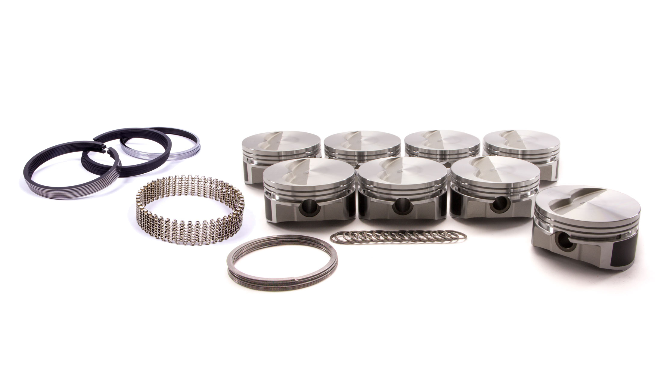 Wiseco Pro-Tru PTS506A4 Piston and Ring, 23 Degree Flat Top, Forged, 4.040 in Bore, 1/16 x 1/16 x 3/16 in Ring Grooves, Minus 5.0 cc, Small Block Chevy, Kit