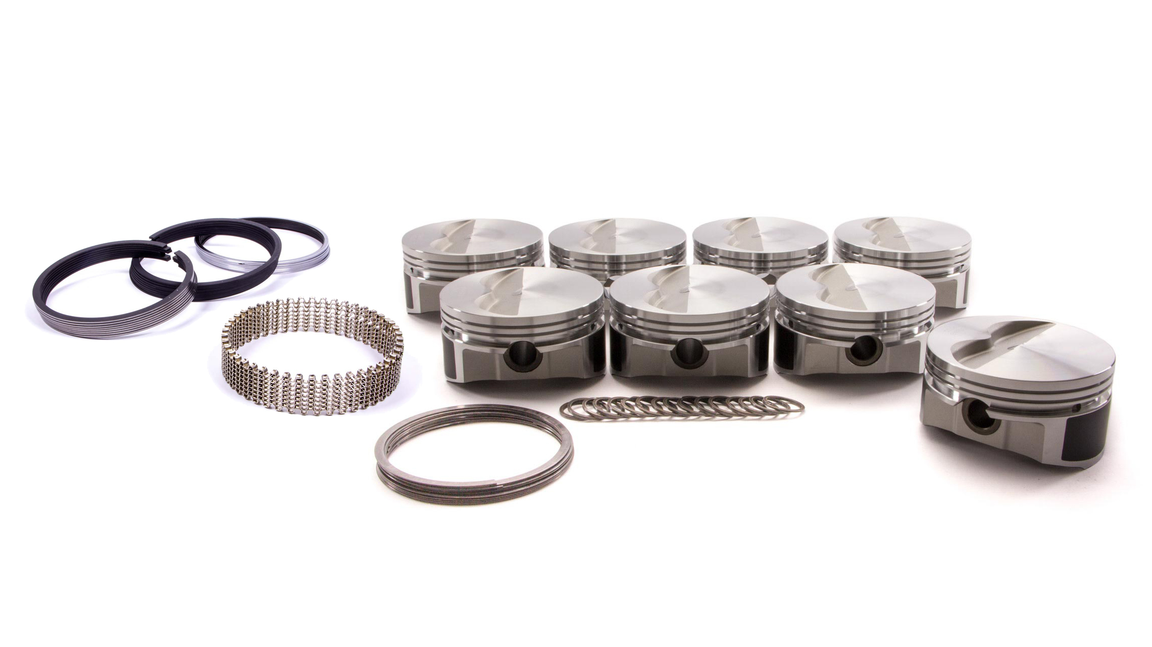 Wiseco Pro-Tru PTS506A6 Piston and Ring, 23 Degree Flat Top, Forged, 4.060 in Bore, 1/16 x 1/16 x 3/16 in Ring Grooves, Minus 5.0 cc, Small Block Chevy, Kit