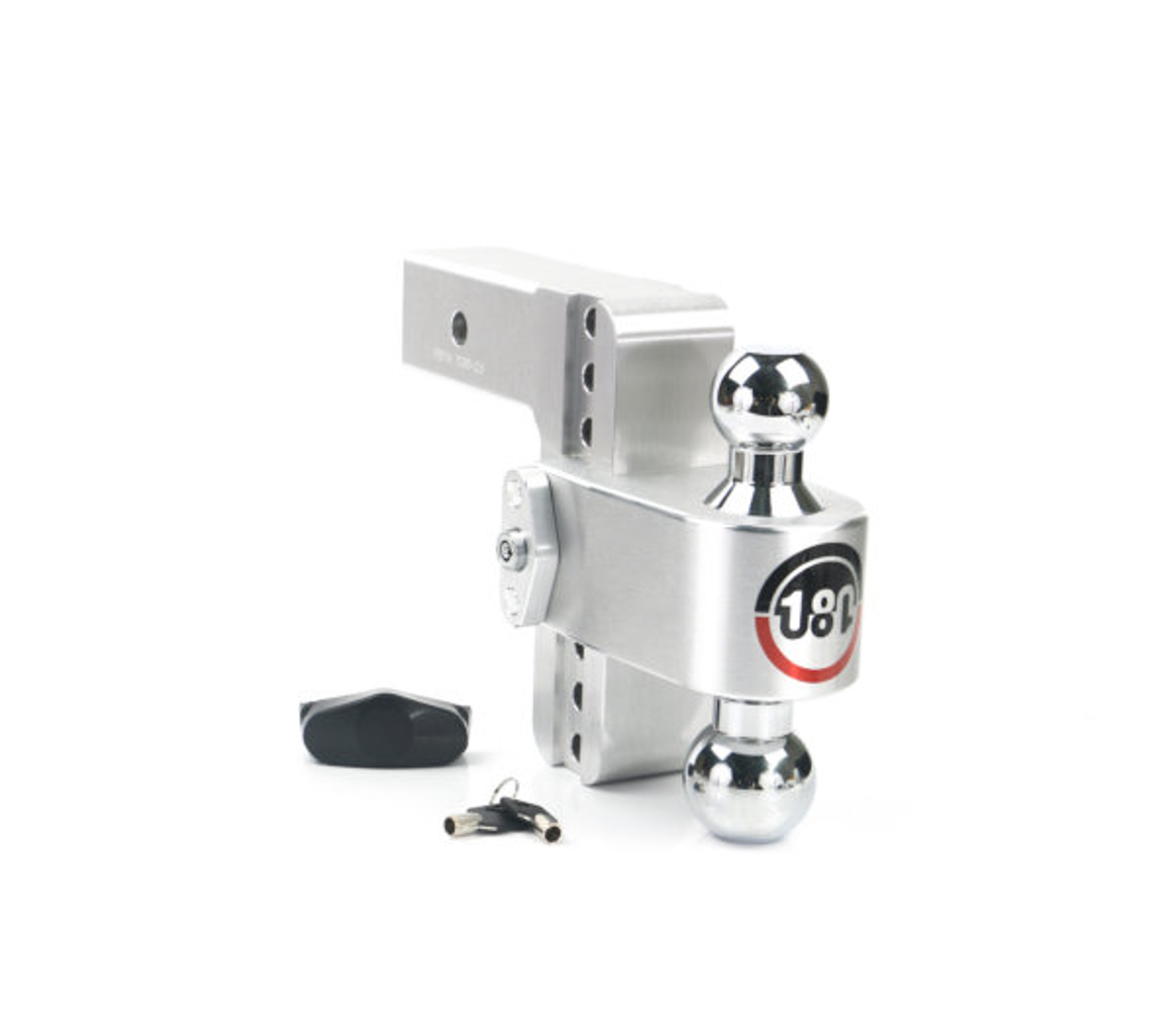 Weight Safe CTB6-2.5 Ball Mount Hitch, 2-1/2 in Shaft, 2 / 2-5/16 in Hitch, 6 in Drop, 8000 / 18500 lb Capacity, Aluminum / Steel, Natural / Chrome, Kit