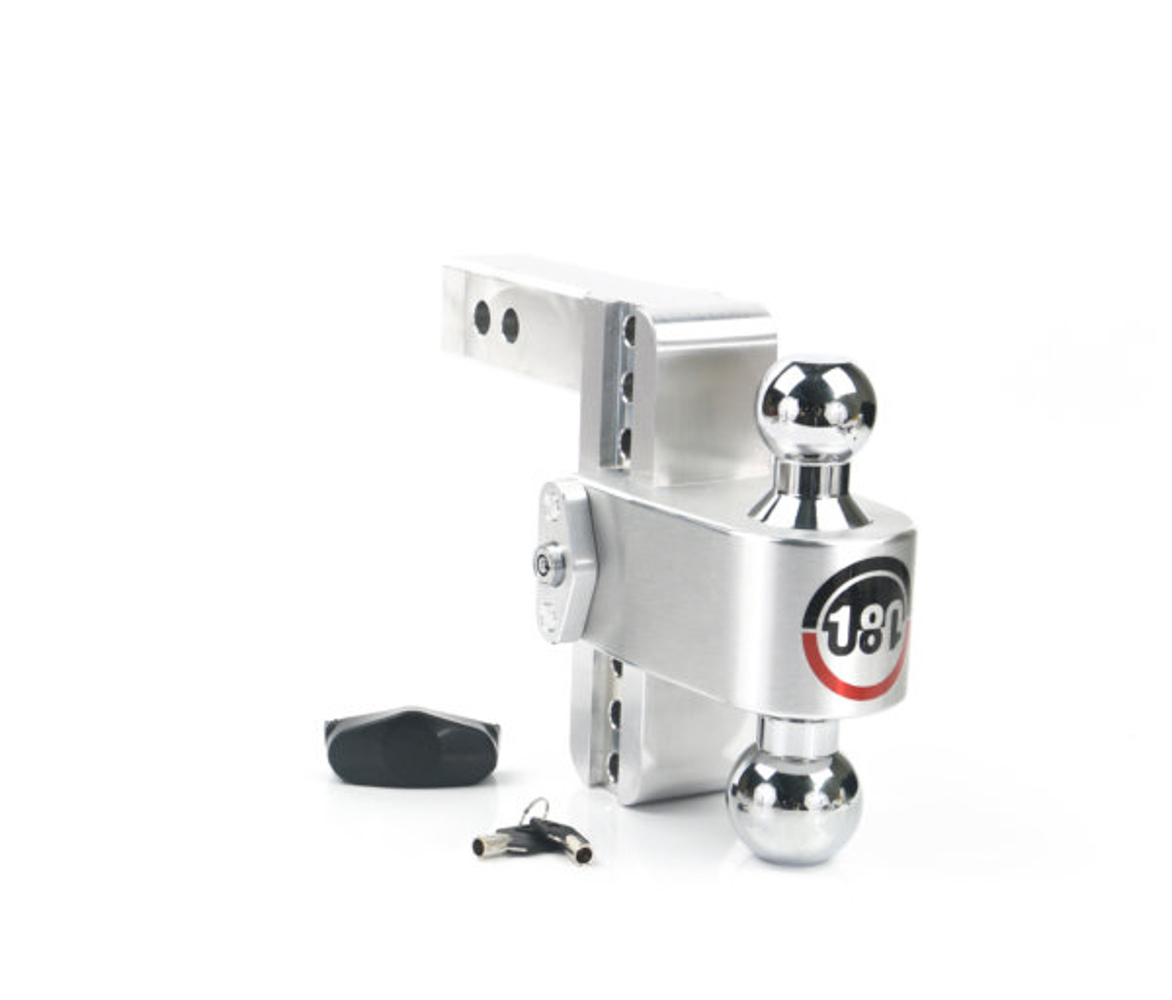 Weight Safe CTB6-2 Ball Mount Hitch, 2 in Shaft, 2 / 2-5/16 in Hitch, 6 in Drop, 8000 / 12500 lb Capacity, Aluminum / Steel, Natural / Chrome, Kit