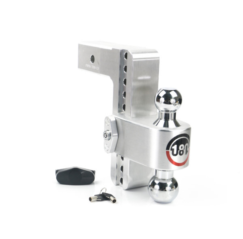 Weight Safe CTB8-2.5 Ball Mount Hitch, 2-1/2 in Shaft, 2 / 2-5/16 in Hitch, 8 in Drop, 8000 / 18500 lb Capacity, Aluminum / Steel, Natural / Chrome, Kit