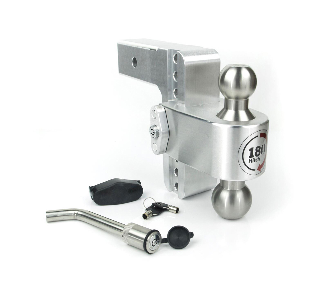 Weight Safe LTB6-2-KA Ball Mount Hitch, 2 in Shaft, 2 / 2-5/16 in Hitch, 6 in Drop, 8000 / 12500 lb Capacity, Keyed Alike, Aluminum / Stainless, Natural, Kit